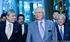 The men in grey suits. Credit Malaysiakini