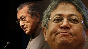 Zaid Ibrahim and Dr Mahathir Mohamad. Credit The Ant Daily.