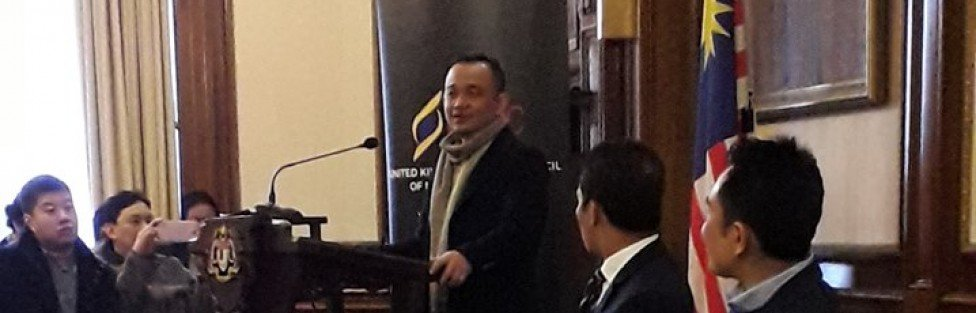 Before the sparks fly….Dr Maszlee Malik, the Education Minister, at the Malaysian High Commission in London