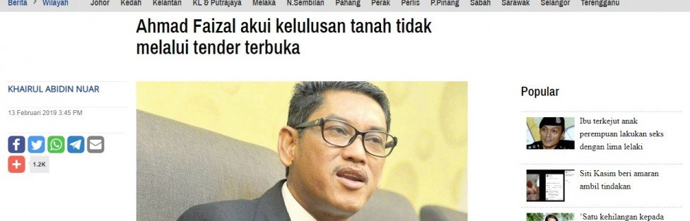 The Perak MB need only answer ONE question, which is…